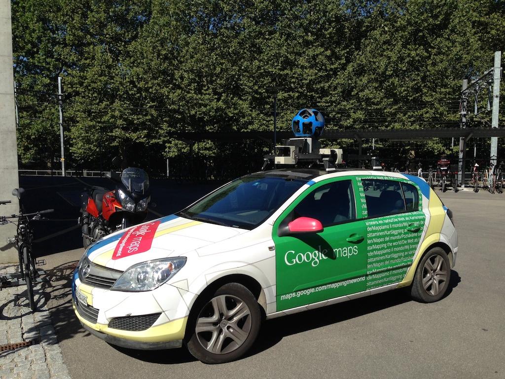 Google car resting