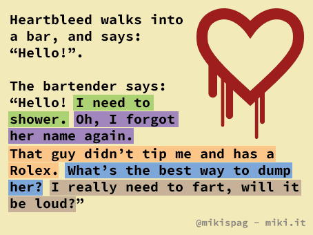 Heartbleed walks into a bar...